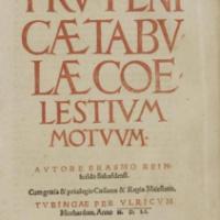 Wiederentdeckt – Erasmus Reinhold d.Ä.