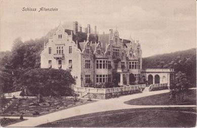 Schloss Altenstein 1899, Ansichtspostkarte